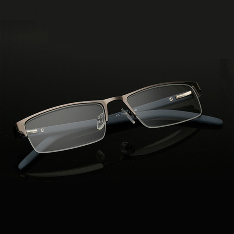 10612e7a90 UVLAIK Men Women Business Reading Glasses Metal Half Frame - Onetime