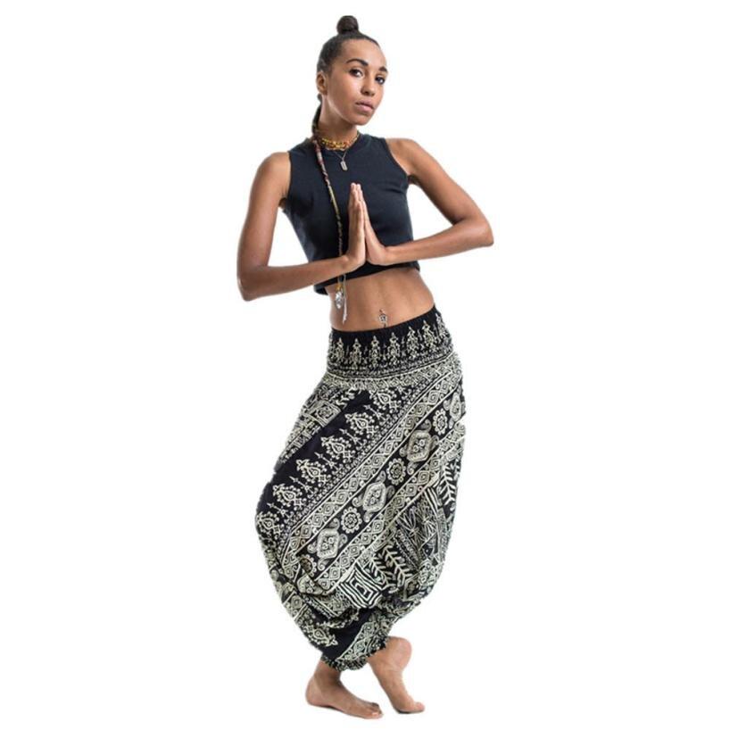 #4 2018 NEW Fshion Women Casual Summer Loose Trousers Baggy Boho Aladdin Jumpsuit Harem Pants