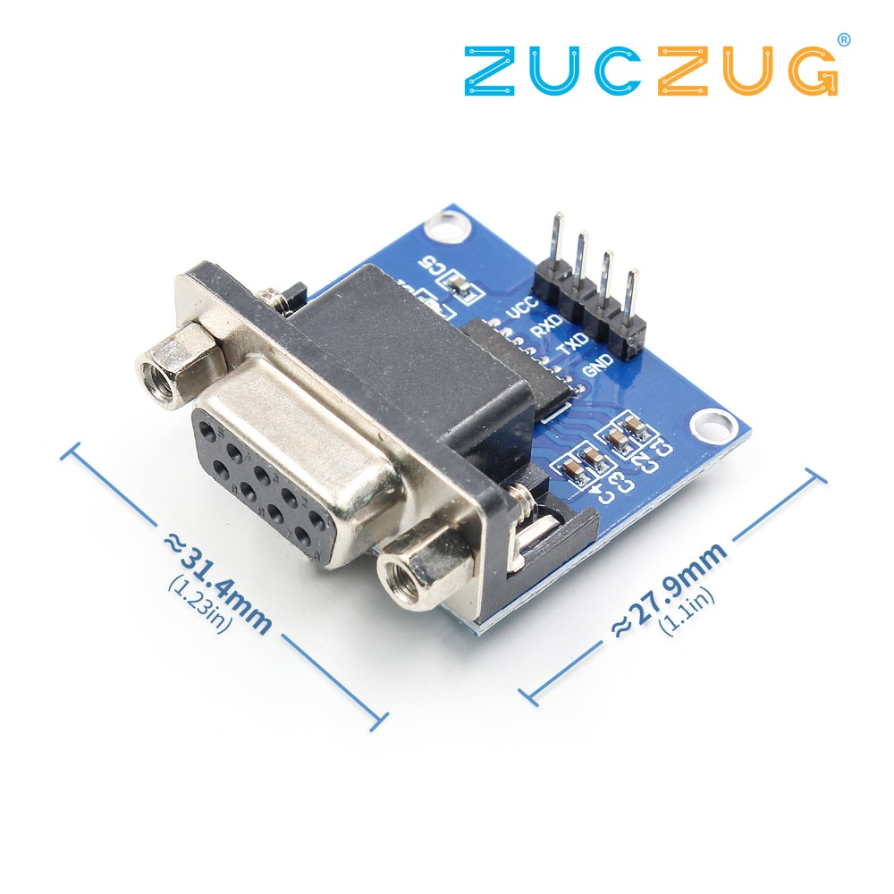 1pcs/lot MAX3232 RS232 To TTL Serial Port Converter Module DB9 Connector MAX232