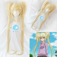 Shugo Chara ! Party ! Women Cosplay Wig Tsukiyomi Utau Long Ponytails Dokki Doki Pucchi Puchi Synthetic Hair Cosplay