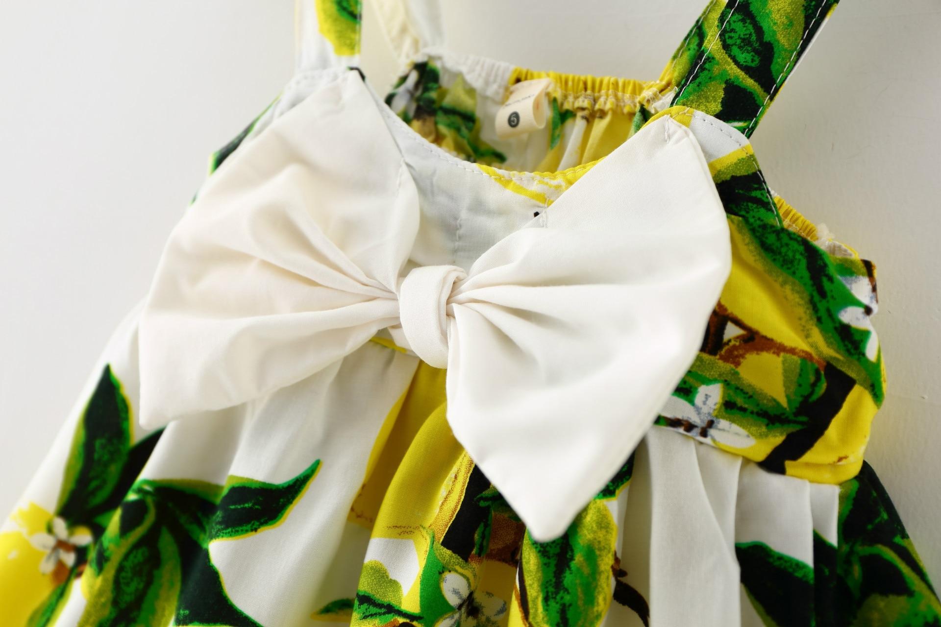 2016 New Baby Dress Infant girl dresses Lemon Print Baby