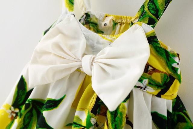 Lemon Print Baby Girls Dress