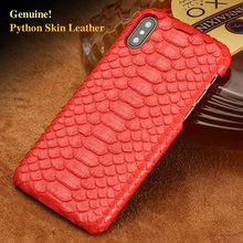 Wangcangli brand cell phone case natural python skin cover for iphone 7Plus all handmade custom