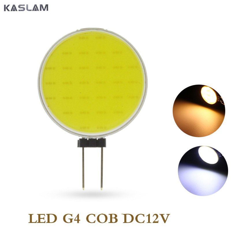 G4 COB LED Bulb Light Spotlight 30 Chips Replace Halogen Lamp Pure Warm White Lighting Bulbs DC12V 5W h4 30w canbus cree chips led xenon warm white 4500k pure white 6000k fog light daytime running bulb lamp