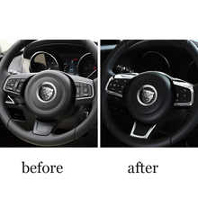 lsrtw2017 Pearl chrome abs car steering wheel trims for jaguar f-pace xe xf 2016 2017 2018 2019 lsrtw2017 pearl chrome abs car dashboad vent trims for jaguar f pace 2016 2017 2018 2019