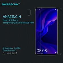 Screen Protector For Huawei Nova 4 Tempered Glass NILLKIN Amazing H Nanometer 0.3mm Anti-Explosion HD Glass Film For Honor V20 nillkin защитное стекло anti explosion glass screen h закругл края для nexus 6