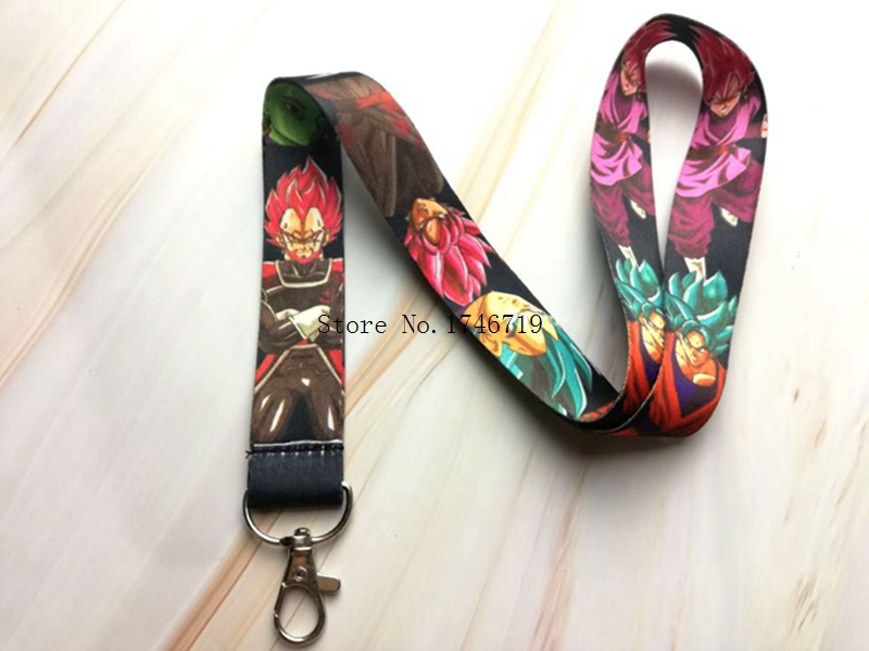 Hot Selling 10 pcs Japanese anime Dragon Ball Z Goku <font><b>Sayajins</b></font> Master R Key Chains Neck Strap Lanyard D-102 image