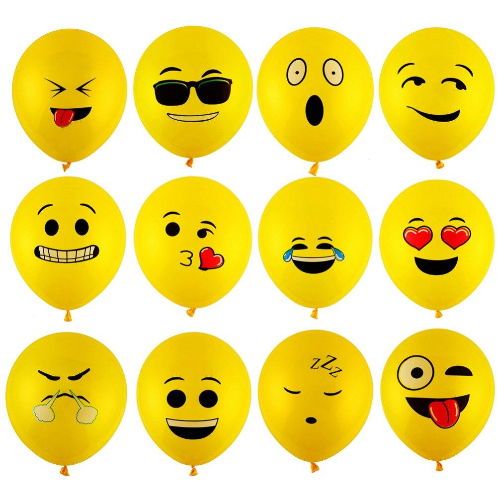 Yellow Emoji Balloons 10 pieces 1