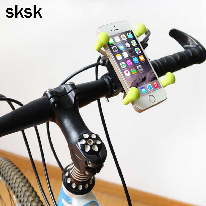 SKSK Bike Bicycle Phone Holder Stand Universal Rotating 360 Degrees X-Grip Clamp Mount for iPhone 8 8Plus Cell Phone