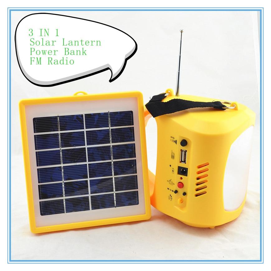 ФОТО Portable LED Solar lantern lamp USB mobile phone charging FM radio 3 IN 1 Tent Light Luz Lampara Lanterns for outdoor camping