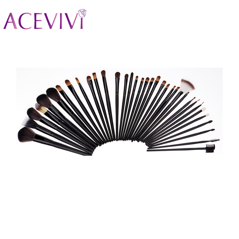 Black 3Wood Eyebrow Brush Tools 3Makeup Brushes Cosmetic Set Good Quality Y-5