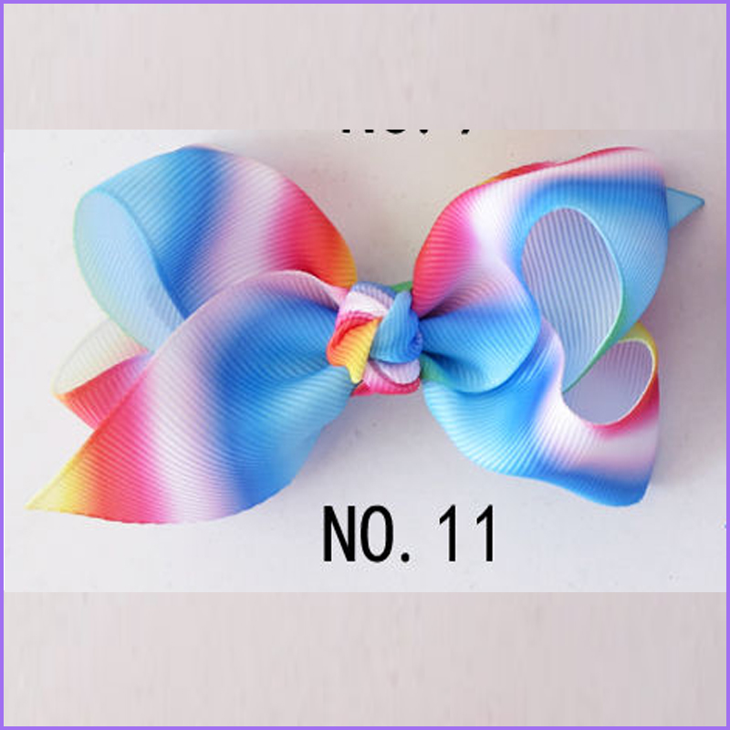 200 BLESSING Good Girl Boutique 3.5 New Rainbow ABC Hair Bows Clip Accessories