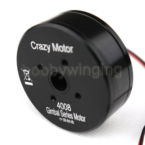 FPV Crazy Motor 4008 Fully Enclosed Brushless Gimbal Motor w/8 Circuits 2A Slipring 360 Degree Rotation for ILDC 5N/7N Camera hj5208 75t brushless gimbal motor for 5d2 camera fpv aerial photography black