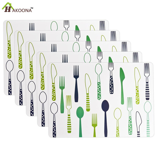 Aliexpresscom Buy HAKOONA Pieces Placemats Spoon Knife Fork - Where to buy table pads