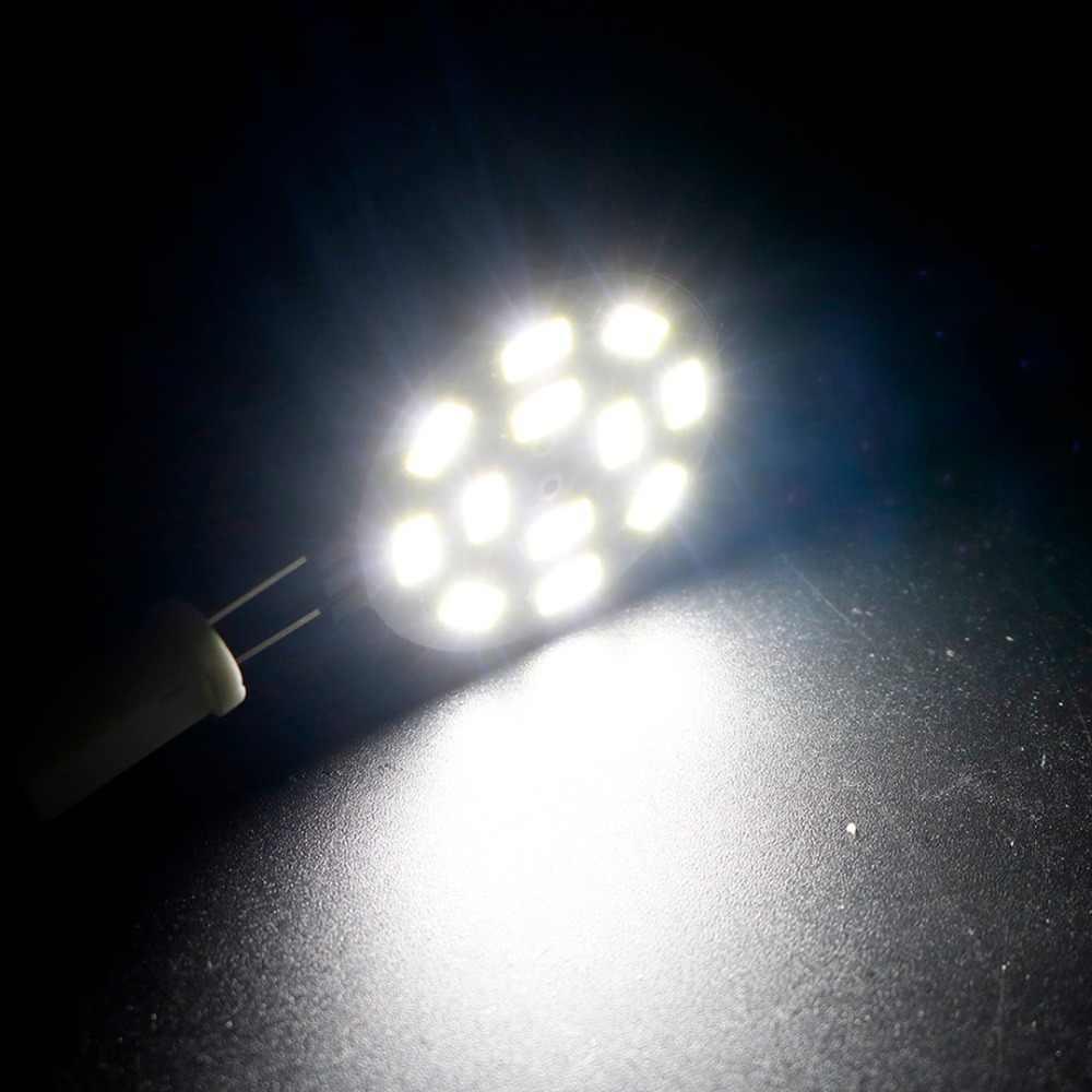 Led ピンシャンデリア電球ランプ 6/12/15led 5730 SMD G4 ベース DC12V 2 ワット 4 ワット 5 ワット車マリンキャンパー Rv ラウンド範囲ウォームホワイト JQ