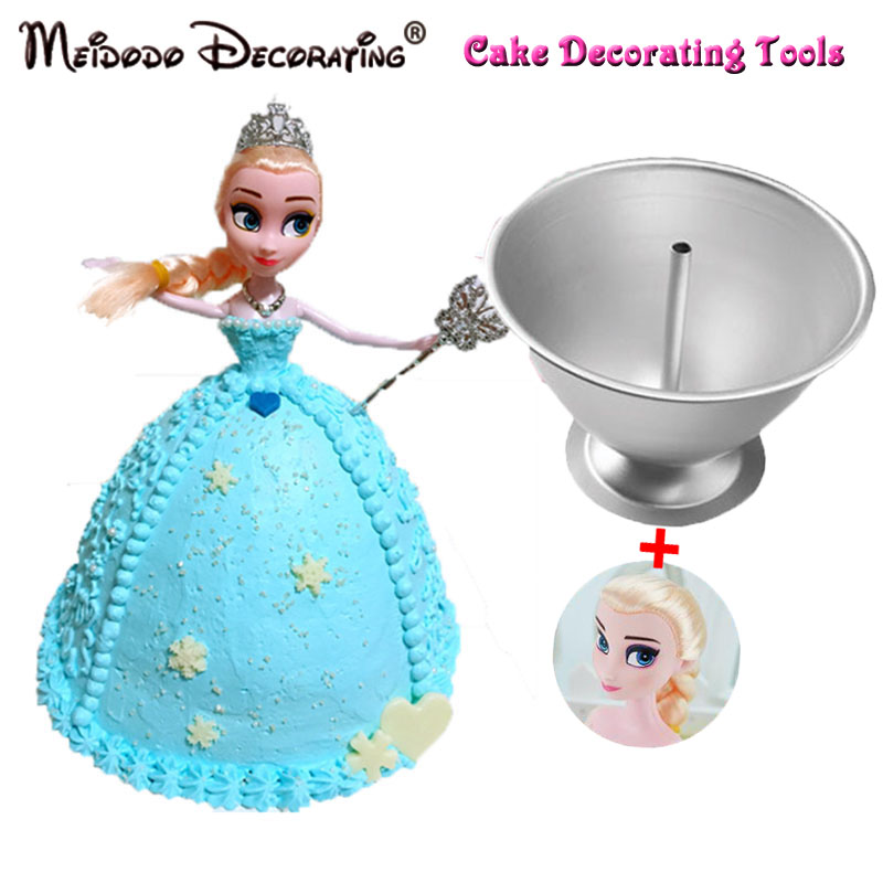 Aluminium Cake Pan DIY Elsa Princess Cake Mold Barbie Princess Girl Birthday Cake Barbe Princess Mold