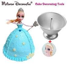 Aluminium Kuchenform DIY Elsa Prinzessin Kuchen Form Barbie Prinzessin Mädchen Geburtstag Kuchen Barbe Prinzessin Form Rock Backform