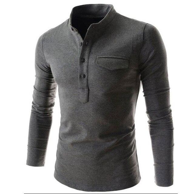 Новая Мода Повседневная Мужчины Рубашка С Длинным Рукавом Сплошной Цвет Тонкий Fit Рубашки Мужчины Высокого Качества Хлопок Мужские Рубашки Платья Мужчины одежда