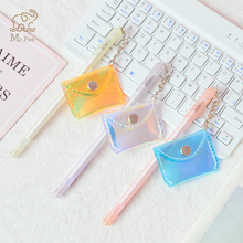 Lovely Creative Laser Coin Purse Pendent Gel Pen Signature Escolar Papelaria for Office School Writing Supplies Stationery