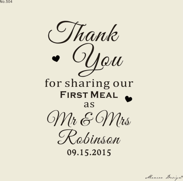 Custom Wedding Stamp Unique Favors Stationery Table Decor Thank You For Sharing Our First