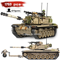 battlefield Corps Main battle M60 MAGACH Big tank 1753pcs compatible legoinglys Military ww2 Building Blocks model figures toy