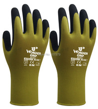 Gardening Gloves Safety Gloves wonder grip 13 Guage Nylon With Nitrile Sandy Coated Work Gloves nmsafety better grip ultra thin knit latex dip nylon red latex coated work gloves luvas