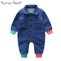 Humor Bear 2018 Infant Clothes Unisex Baby Clothing Covered Button Design Baby Long Sleeve Jumpsuits Children