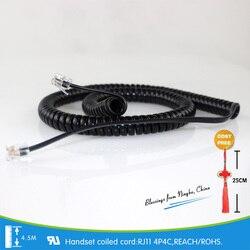 4.5 M primavera linha telefônica RJ11 4P4C oxygen-free condutor de cobre cabos de FAX de Certificação em conformidade com as normas DA UE