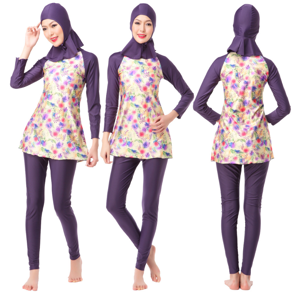 Women 39 s Muslim swimsuit islamic swim wear new split long sleeve conservative swimsuit Ladies 39 Swimwear Modest Swimwear Religious in Muslim Swimwear from Sports amp Entertainment