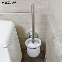KEDAH Bathroom Toilet Brush Holders With Glass Cup Durable Type Hardware Accessories One Set KD8206