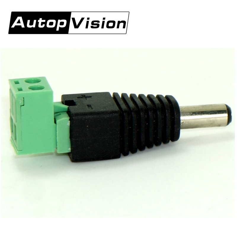 100pcs/lot DC Power Plug BNC Connector DC Male Elbow Adapter For CCTV IP Camera Power Supply Surveillance Accessories