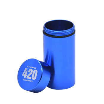 Stash Jar-Airtight Smell Proof Aluminum Herb Container Herb Grinder Smoking  Pipe Pill Box