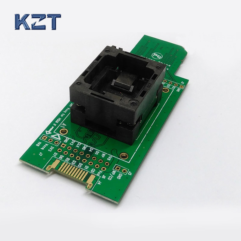 eMMC test Socket to SD, eMMC adapter, for nand flash testing, for BGA 169 and BGA 153, size 14x18mm , for data recovery specific flash lqfp100 78k0 lg2 100gf test adapter