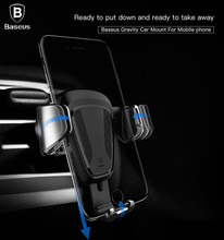 BASEUS автомобильный держатель телефона Подставка для IPhone X 8 6 7 для Samsung телефон стенд Air Vent Телефон держатель автомобильный телефон стенд автомобиль-Стайлинг