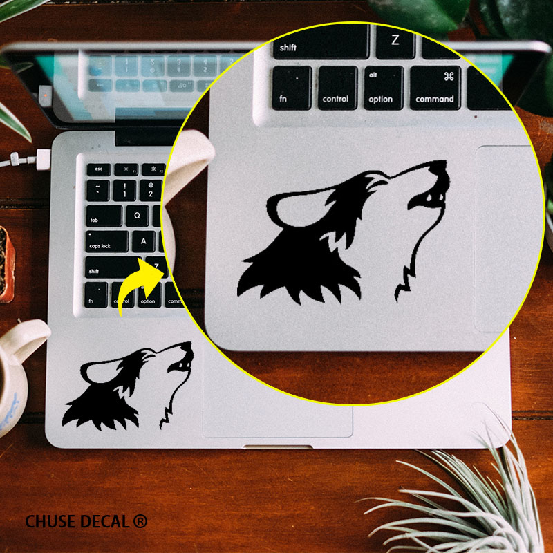Howling Wolf Touchpad Decal Laptop Sticker Trackpad Sticker for 11 12 13 15  Macbook Air / Pro / Retina Notebook Sticker