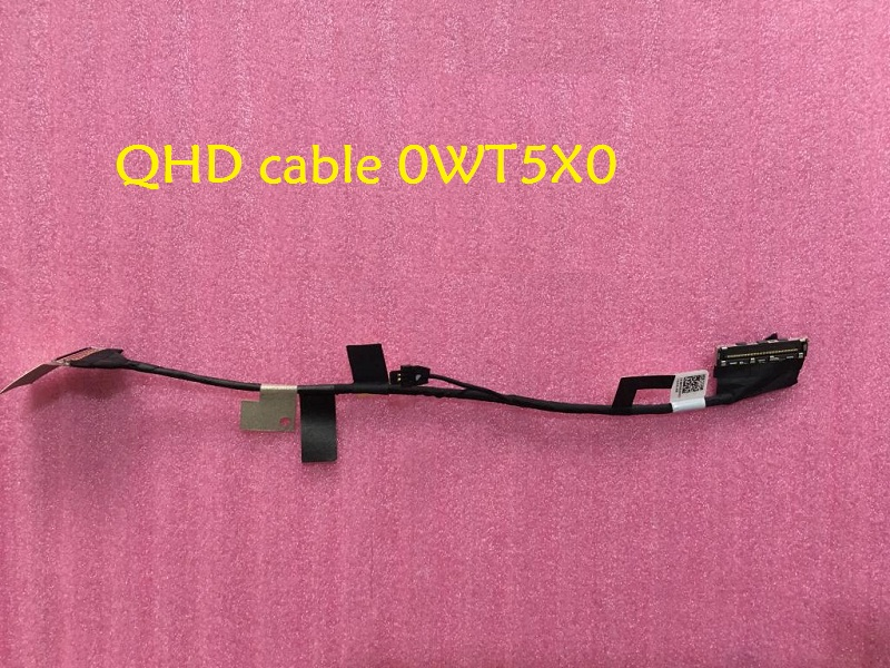 Laptop LCD Cable for DELL XPS 13 9350 9360 AAZ80 FHD DC02C00BV00 0HJ6Y9 HJ6Y9 QHD DC02C00BX00 0WT5X0 WT5X0 LS-C881P 0H2P6T H2P6T  7xinbox 6 cell 6710mah 7 6v 56wh laptop battery for dell xps 13 9343 9350 90v7w 090v7w jhxpy 5k9cp jd25g