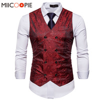 Men Double Breasted Dress Vests Chaleco Sleeveless ...