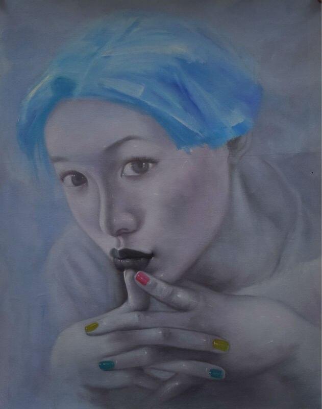 100% ручная роспись, картина маслом на холсте, Современная сексуальная девушка, Картина на холсте, настенная живопись, картина для гостиной