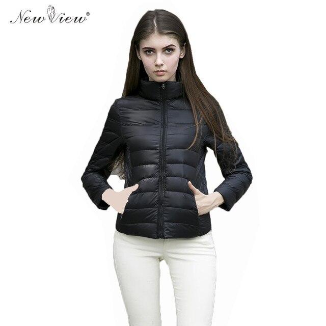 Ucrania Ultraligero Caliente Duck Down Jacket Coat Invierno de Las Mujeres de Moda Collar Del Soporte Del Estilo Más El Tamaño XXXL Parka Mujer