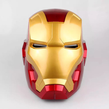 1:1 Iron Man Cosplay Children Mask PVC Figure Toy with LED Light Iron Man Helmet Collection Model Size for Children