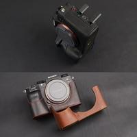 [VR] Genuine Leather Camera Case Bag For Sony A9 A7 III A7R M3 A7 Mark III Handmade Camera Cover Half Body Handle