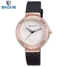 SKONE 2017 Excessive High quality Crystal Diamond Wrist Watch For Ladies New Date Relogios Feminino Enterprise Waterproof Women Quartz-watch