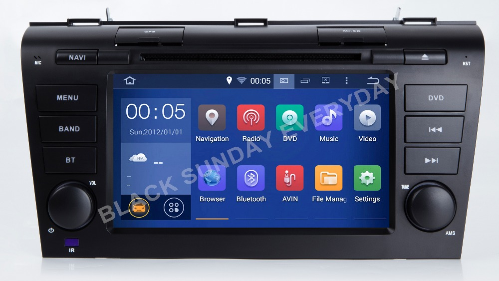 1024*600 Quad Core 16G 7inch Android 9.0.1 Car DVD Player for <font><b>MAZDA</b></font> <font><b>3</b></font> 2004 2005 2006 <font><b>2007</b></font> 2008 2009 GPS Navigation Newest <font><b>Radio</b></font> image