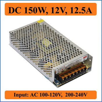 150W 12V 12.5A switching power supply input AC220V/110V transformer to DC 12V Output power adapter for leds strip light Bulb image