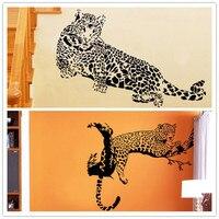 Animal Cheetah Leopard Wall Stickers Kindergarten For Kids Room Bedroom Living Room Home Decor Wall Decal