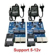 1G2E 10/100/1000M Gigabit Ethernet-коммутатор Ethernet волоконно-оптический медиа конвертер одиночный режим 2 Порты и разъёмы RJ45 волоконно-оптический блок печатных плат