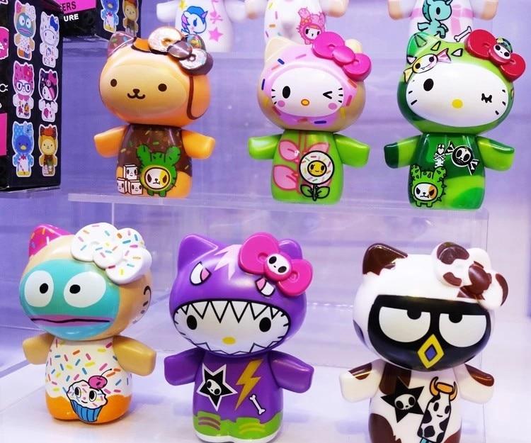 Nouvelle arrivée qualité 12 pcs/ensemble bonjour kitty poupées décoration de voiture meilleur cadeau pour filles jouets Promotionnel présente