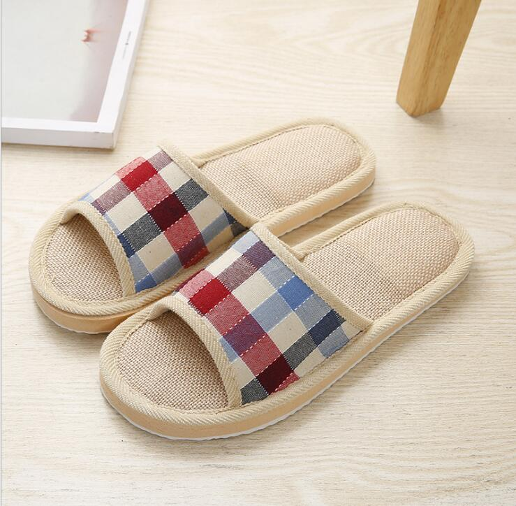 2019 Men Slippers XZ32 40 Slippers Khaki Blue Cotton Slippers For Men Shoes High Quality Home