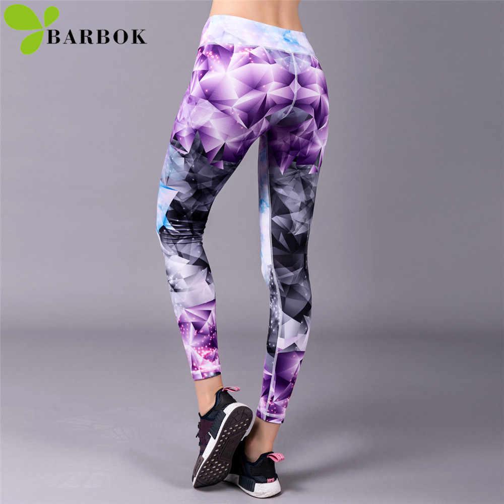 BARBOK ספורט מכנסיים יוגה מכנסיים לנשימה Slim נשים כושר ספורט חדר כושר חותלות ליידי חלקה ריצה אימון חותלות