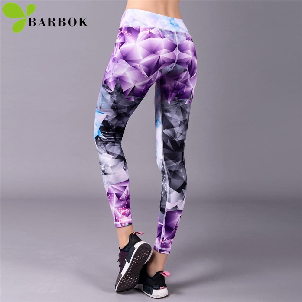 BARBOK women yoga leggings pants leggins sport fitness soft flexible running excise Leg